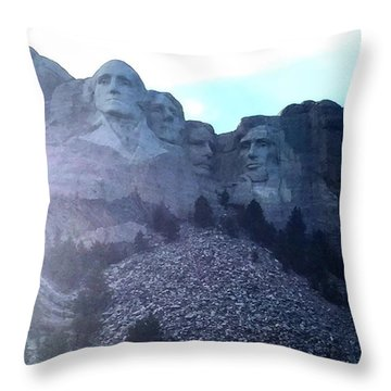 Mt Rushmore Throw Pillow