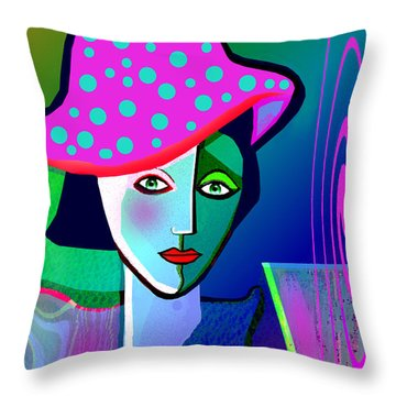 1150 - Woman With A  Pocodot Hat ... Throw Pillow