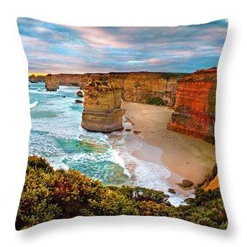 12 Apostle Sunset Throw Pillow