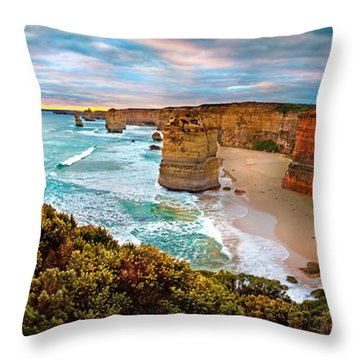 12 Apostle Sunset Throw Pillow