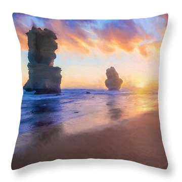 12 Apostles With Marshmallow Skies    Og Throw Pillow