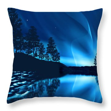 Throw Pillow featuring the photograph Aurora Borealis by Setsiri Silapasuwanchai