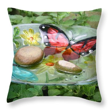 Cypress Gardens Throw Pillow by Ellen Tully