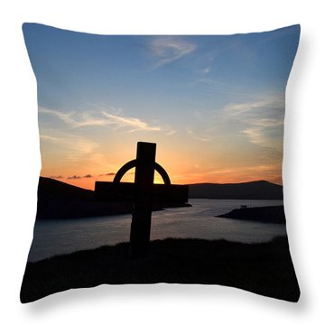 Throw Pillow featuring the photograph Dingle Sunset by Barbara Walsh