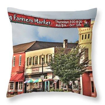 Downtown Perrysburg Throw Pillow