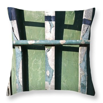 Green Metal Throw Pillow