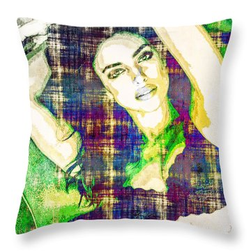Irina Shayk Throw Pillow by Svelby Art