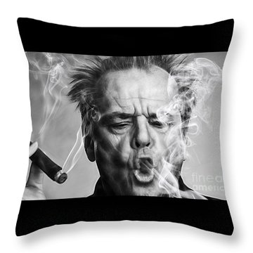 Jack Nicholson Collection Throw Pillow