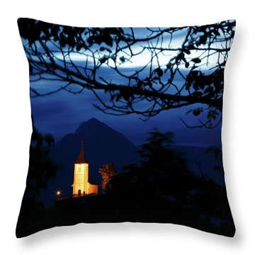 Jamnik Church Of Saints Primus And Felician Throw Pillow