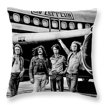 Led Zeppelin Collection Throw Pillow by Marvin Blaine