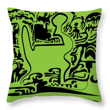 12 Lines Throw Pillow