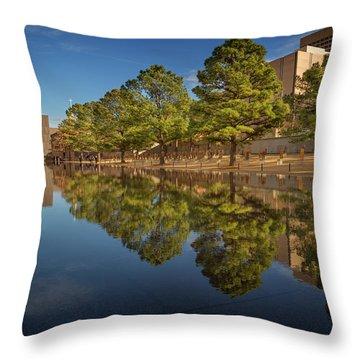 Okc Memorial Iv Throw Pillow