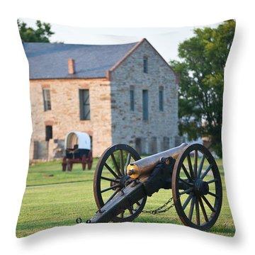 12-pounder Napoleon Throw Pillow by Jonas Wingfield
