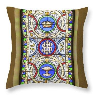 Saint Anne's Windows Throw Pillow