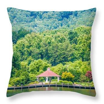 Scenery Around Lake Lure North Carolina Throw Pillow