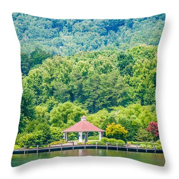 Scenery Around Lake Lure North Carolina Throw Pillow