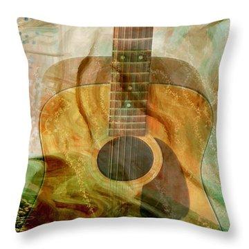 12 String Throw Pillow by Linda Sannuti