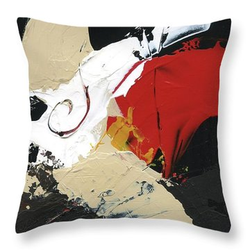 Throw Pillow featuring the painting Three Color Palette by Michal Mitak Mahgerefteh