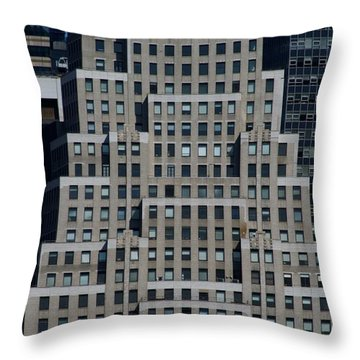 120 Wall Street Nyc Throw Pillow