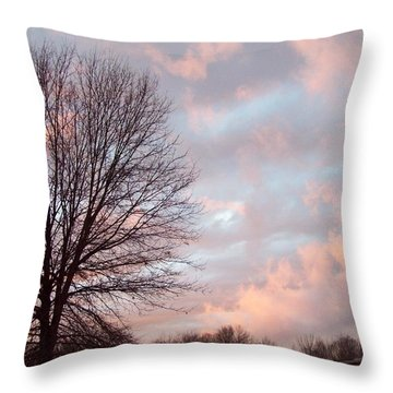 1211 Skies Throw Pillow