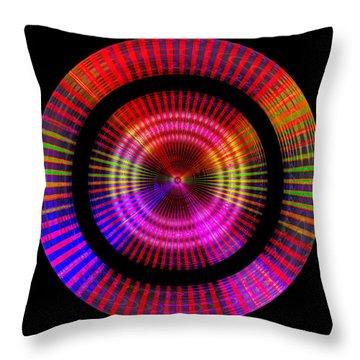 Throw Pillow featuring the digital art #1227201153 by Visual Artist Frank Bonilla