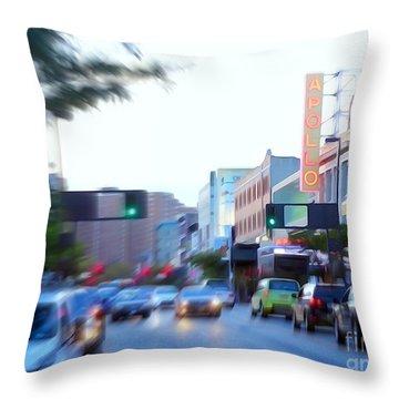 125th Street Harlem Nyc Throw Pillow by Ed Weidman