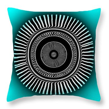 Throw Pillow featuring the digital art #128220156 by Visual Artist Frank Bonilla