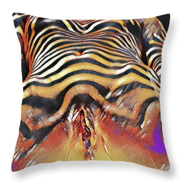 1290s-ak Intimate Vulval Portrait Rendered In The Style Of Francis Picabia  Throw Pillow