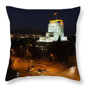 Throw Pillow featuring the photograph 12th And Cambie 1 by Mark Alan Perry