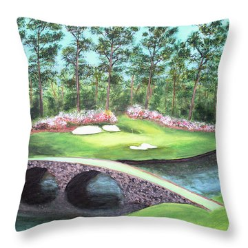 12th Hole At Augusta National Throw Pillow