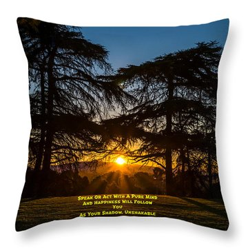 A Buddha Saying Throw Pillow