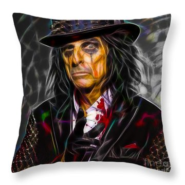 Alice Cooper Collection Throw Pillow