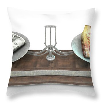 Exchange Rate Throw Pillows