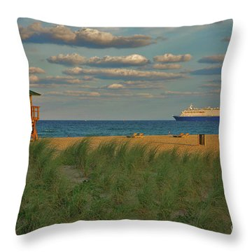 Throw Pillow featuring the photograph 13- Cruising In Paradise by Joseph Keane