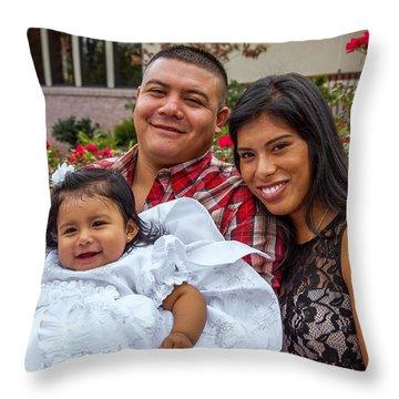 Cruz Baptism Throw Pillow
