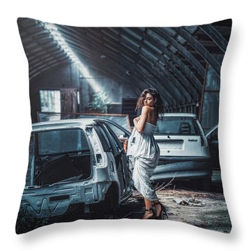 Throw Pillow featuring the photograph Giulia by Traven Milovich