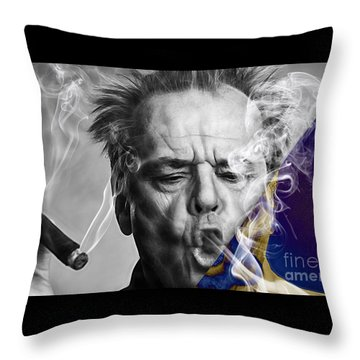Jack Nicholson Collection Throw Pillow by Marvin Blaine