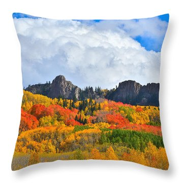 Kebler Pass Fall Colors Throw Pillow