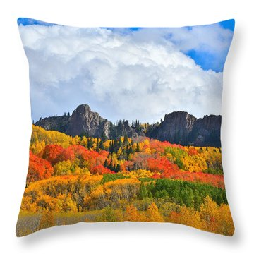 Kebler Pass Fall Colors Throw Pillow