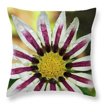 Nice Flower Throw Pillow by Elvira Ladocki