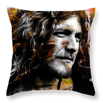 Robert Plant Collection Throw Pillow by Marvin Blaine