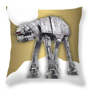 Star Wars At-at Collection Throw Pillow by Marvin Blaine