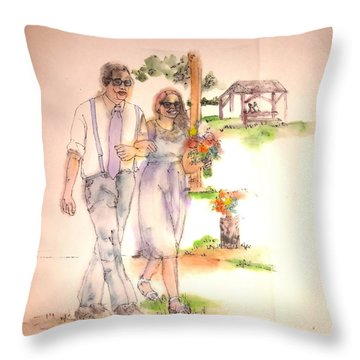 The Wedding Album  Throw Pillow