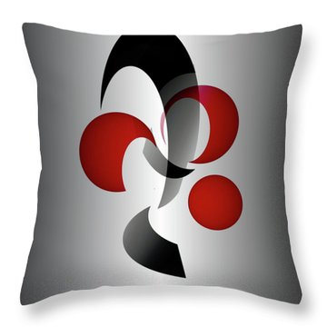 Throw Pillow featuring the digital art 1313-2017 by John Krakora