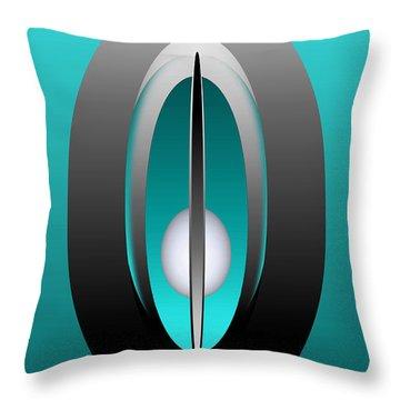 Throw Pillow featuring the digital art 1328-5 by John Krakora