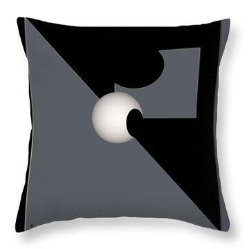 Throw Pillow featuring the digital art 1354-2  2017 by John Krakora