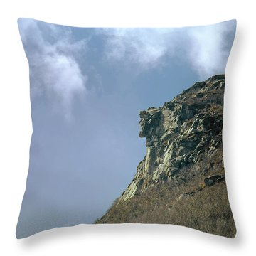 Throw Pillow featuring the photograph 135701 Old Man Of The Mountain Nh by Ed Cooper Photography
