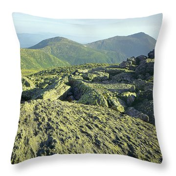 Throw Pillow featuring the photograph 135706 View From Mt. Washington Nh by Ed Cooper Photography