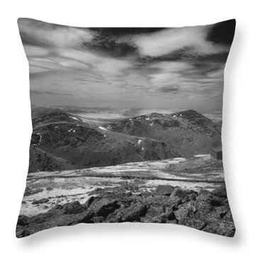 Throw Pillow featuring the photograph 135764 Presidential Range Nh Infrared by Ed Cooper Photography