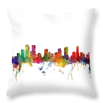 Denver Skyline Throw Pillows